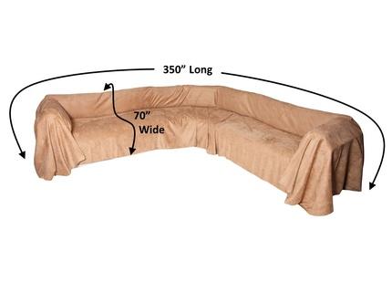 Floppy Ears Design Simple Sectional Sofa Protector